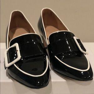 """Black white patent leather manolo blahnik """"Teno"""""""